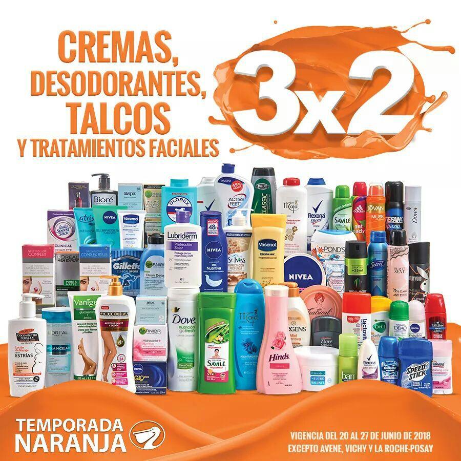 Temporada Naranja 2018 en La Comer: 3 x 2 en cremas, desodorantes, talcos y tratamientos faciales