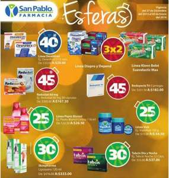 Farmacias San Pablo: 3x2 en pañales Suavelastic Max, descuentos en medicinas y más