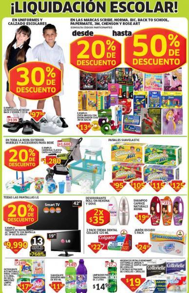 Soriana: liquidación escolar, 20% de descuento en pantallas LG, artículos para bebé y más