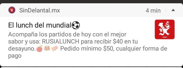 Sin Delantal: cupón $40 pedidos de 50