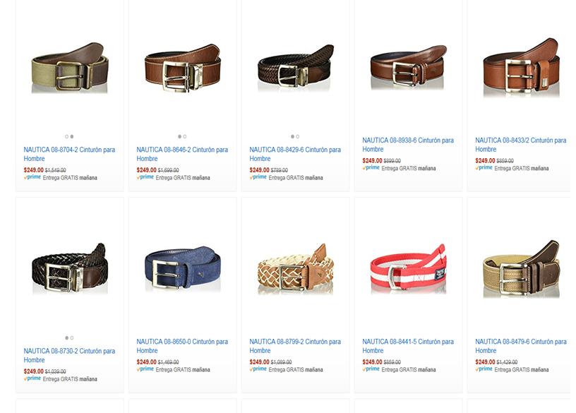 Amazon: Cinturones Nautica Varios modelos y Tallas (Aplica Prime)