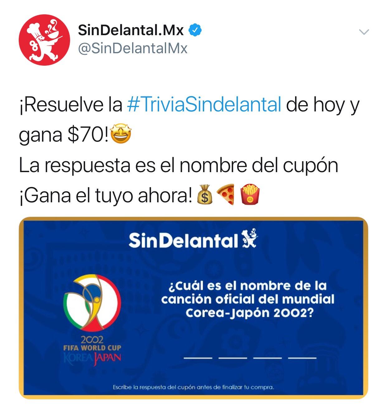 Sin Delantal: cupón de $70 de descuento en consumo de $100