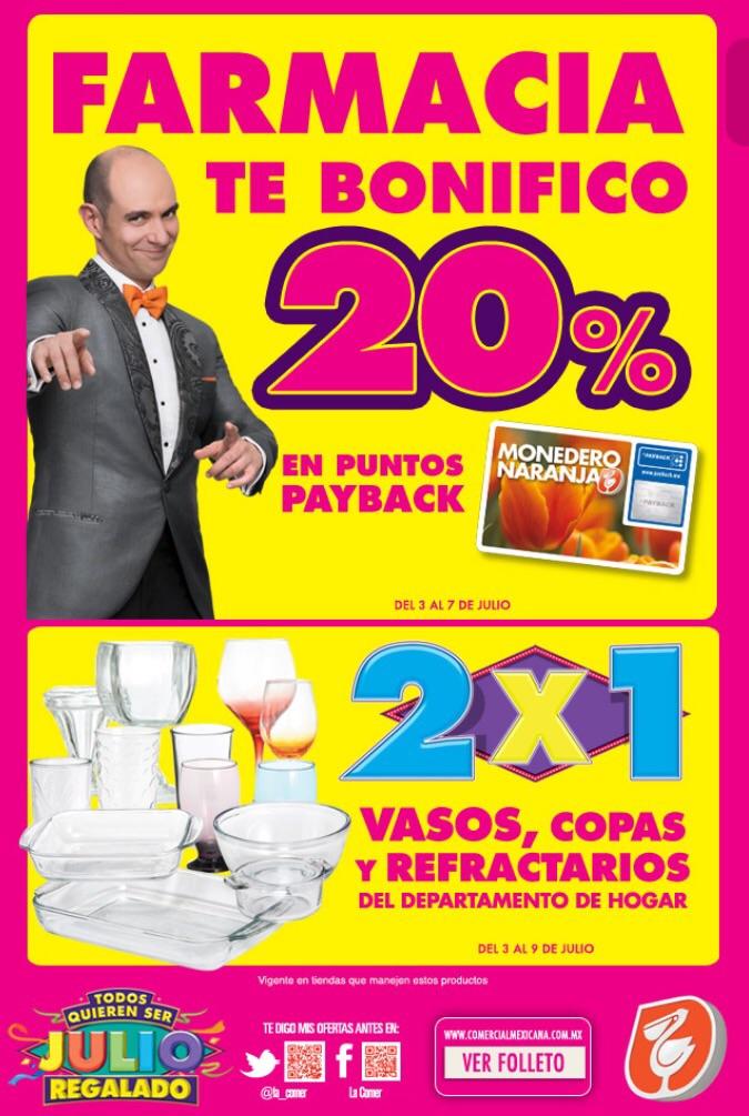Ofertas Julio Regalado 2015: 20% de bonificación en Farmacia y 2x1 en vasos, copas y refractarios
