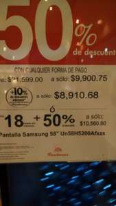 Sanborns: TV Full HD Samsung de 58 pulgadas desde $8,910