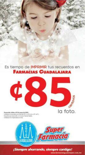 Farmacias Guadalajara: impresión de fotografías a 85 centavos