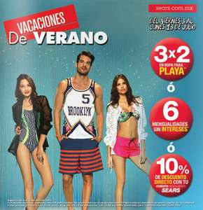 Sears: 3x2 en ropa de playa