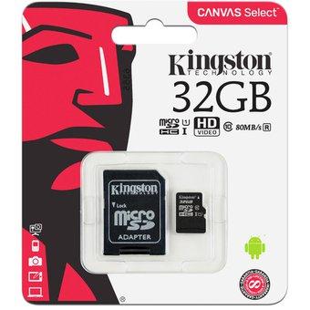 Linio: Memoria SDHC kingstone de 32GB clace 10 con adaptador