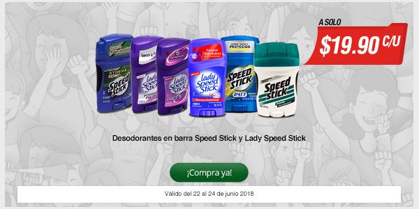 Chedraui: Desodorantes Speed Stick a $19.90
