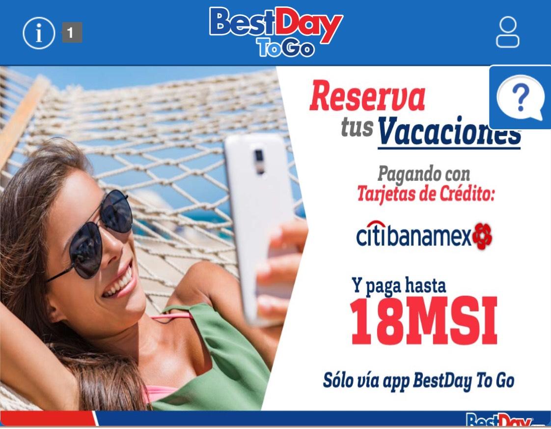 Bestday: $2500 de descuento pagando con tarjetas CitiBanamex
