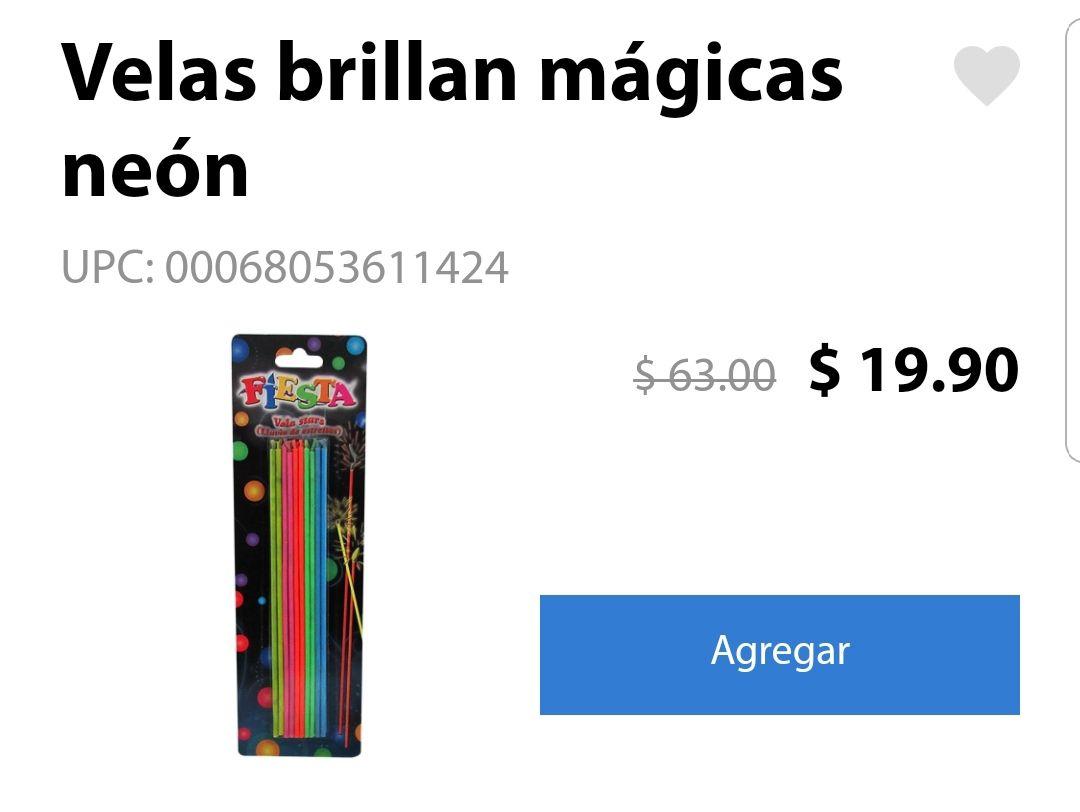 Walmart Súper: Velas Neon Magicas