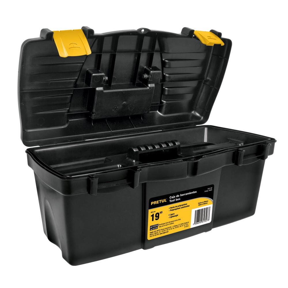 """Lowe's: Caja de herramientas 19"""" Pretul"""