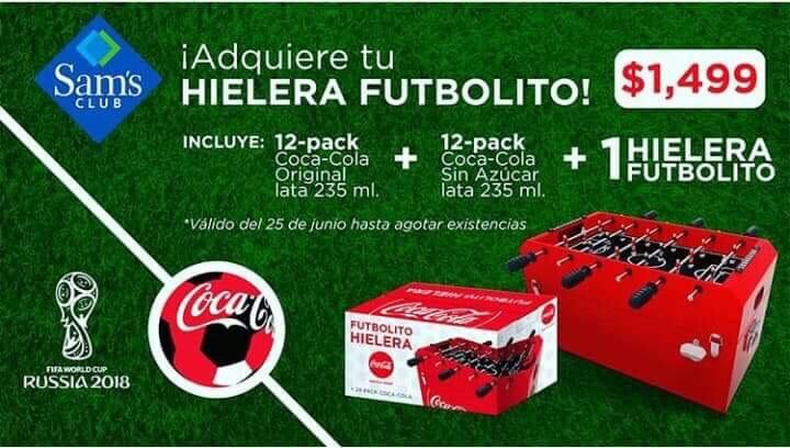 Sam's Club: Hielera Futbolito Coca Cola