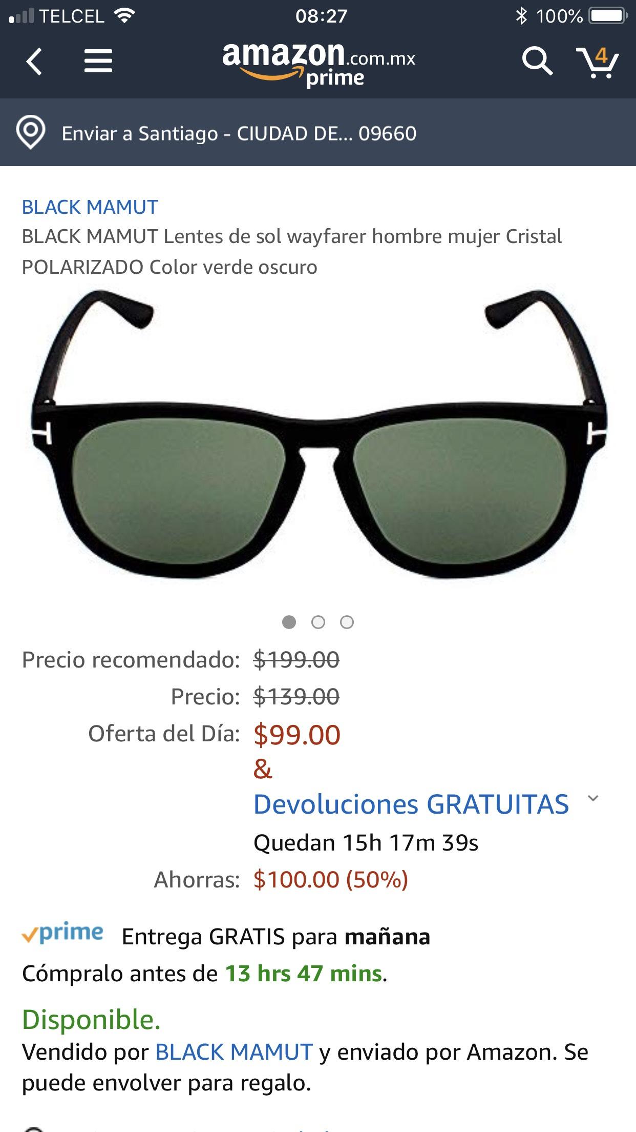 Amazon: Lentes de Sol BlackMamut Con Protección UV