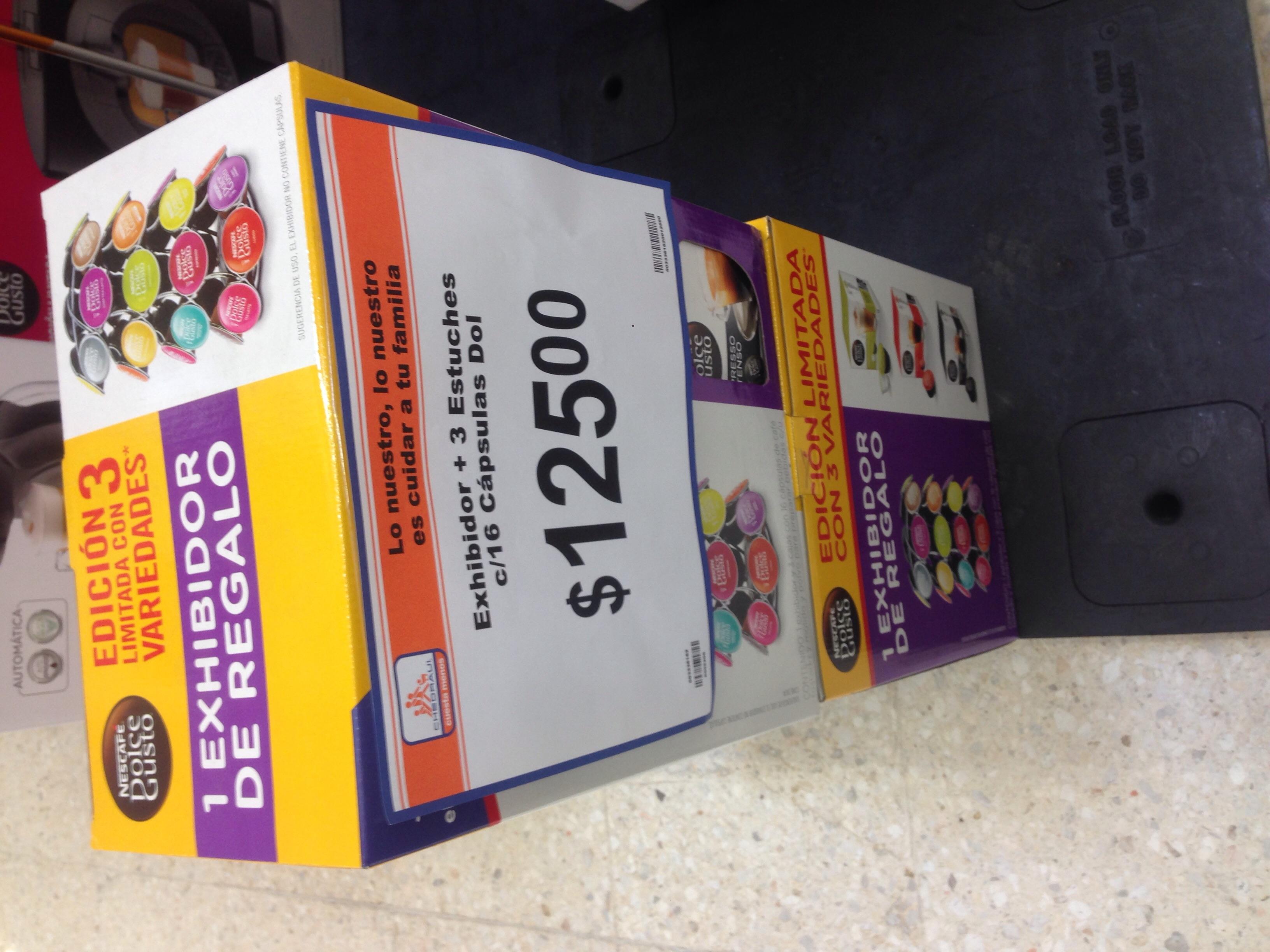 Chedraui: Tri-pack cajas de cápsulas dolce gusto mas porta cápsulas a $125