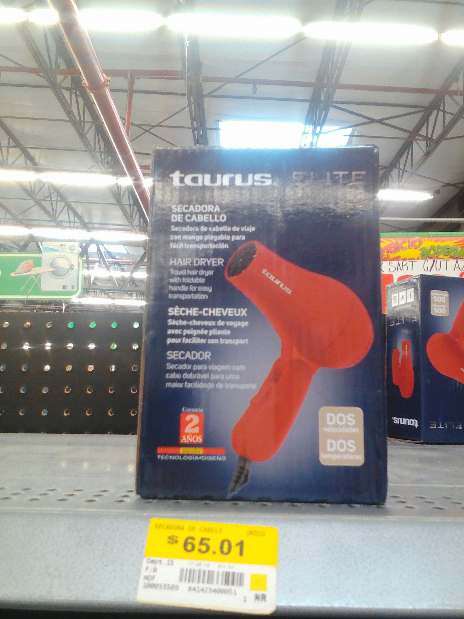 Bodega Aurrerá: Secadora de cabello Taurus a $65.01