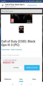 Cdkeys:  Call of Duty (COD): Black Ops III 3 (PC)