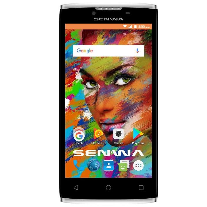 "Famsa: Smartphone Senwa LS5 Thor Negro Telcel camara 13 mpx, Pantalla 5"", 8 GB ROM (expandible según el fabricante a 32 GB) 1 RAM"