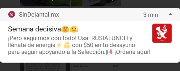 SinDelantal: cupón $50 pedidos de $60