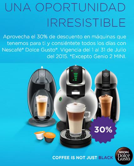 Dolce-gusto Online: todas* las Cafeteras con 30% de descuento y envío gratis (no incluyen cajas de cápsulas) Sólo por Julio.