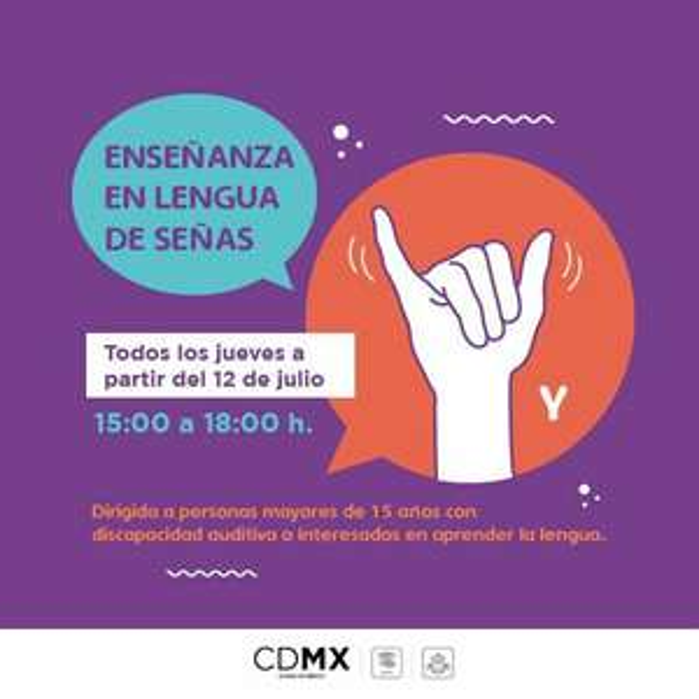 INJUVE: Curso de Lenguaje de señas (LSM) gratuito