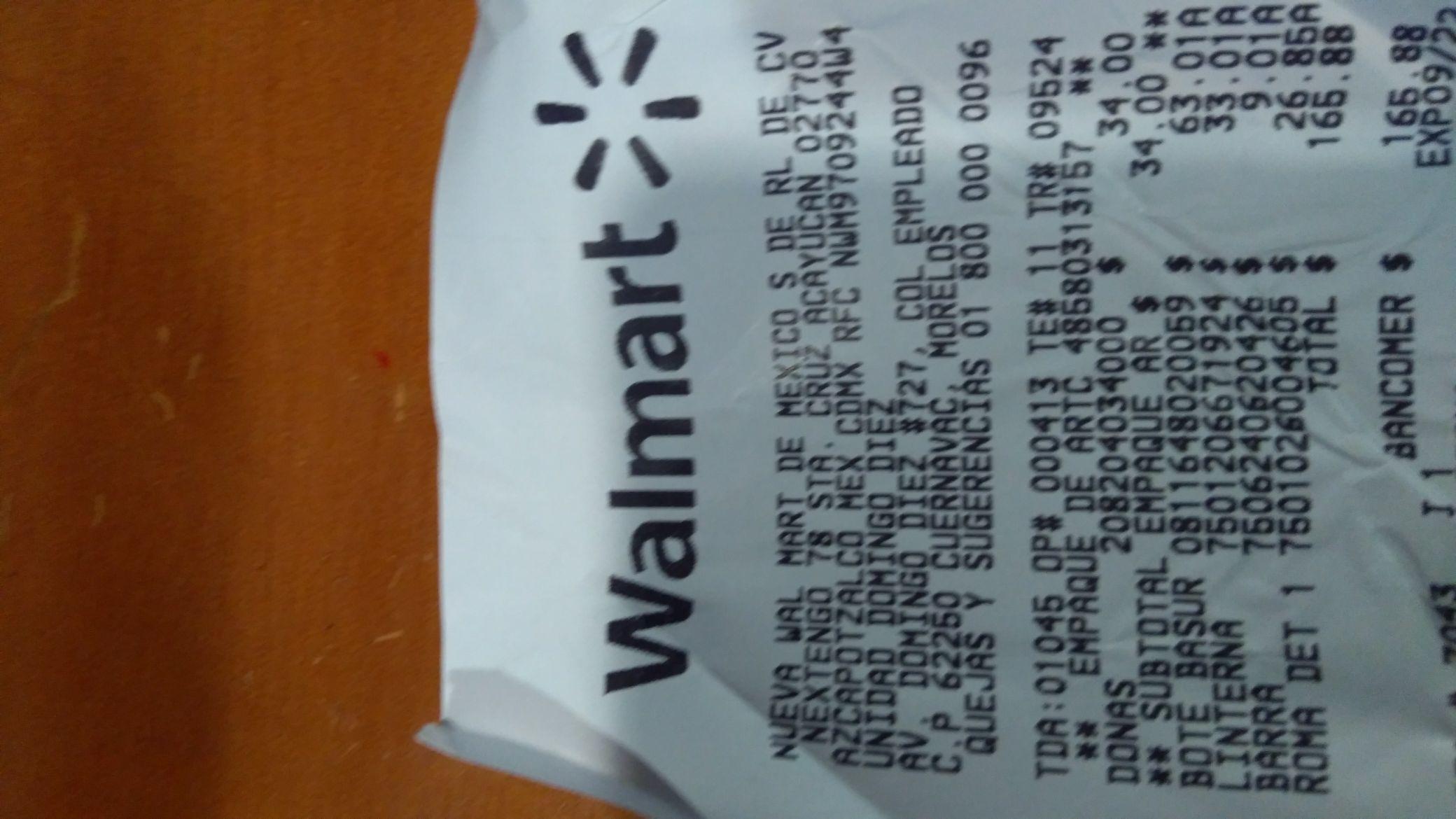 Walmart Domingo Diez: Lámpara Truper en última liquidación,