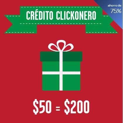 clickOnero: $50 por $200 de crédito