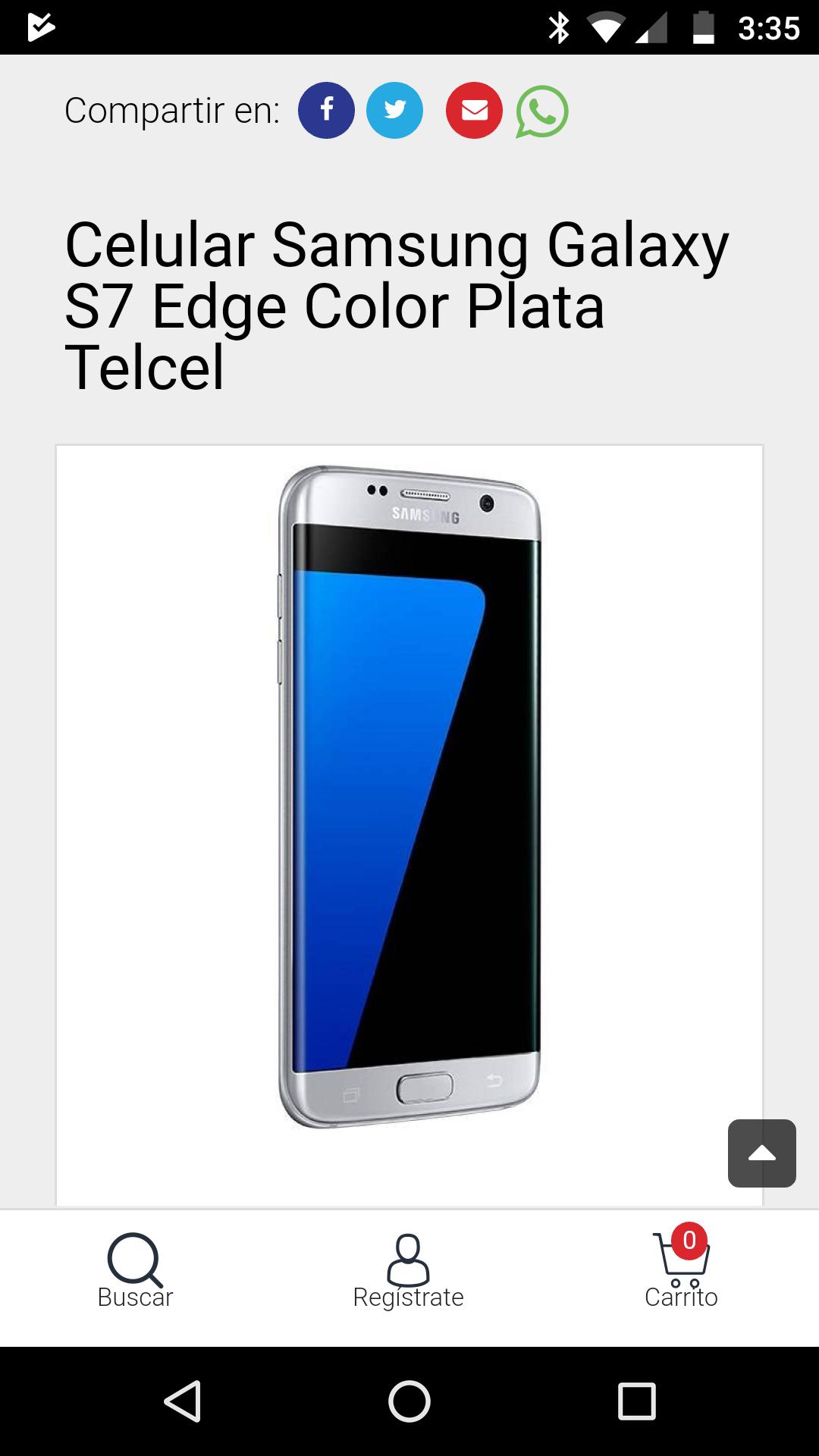 Claro Shop: Samsung Galaxy S7 Edge y Flat Telcel