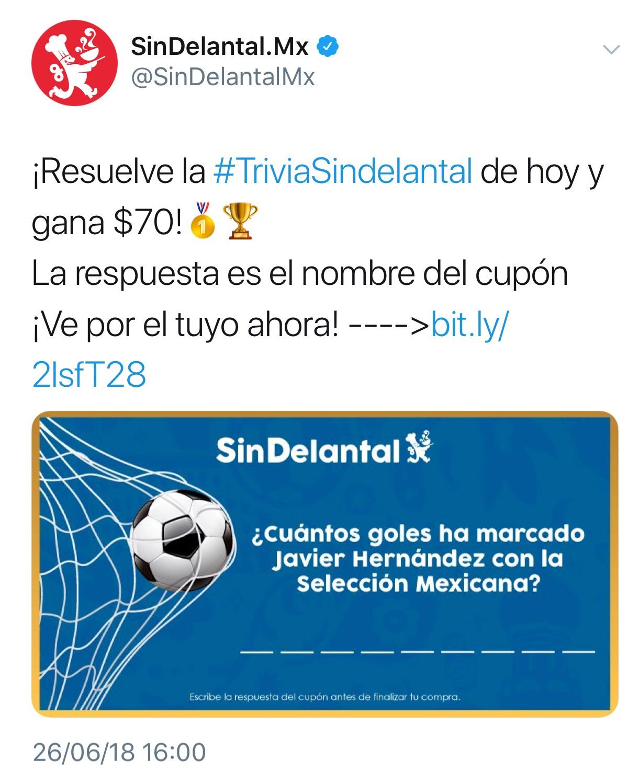 Sin Delantal : 70 pesos en consumo de 100