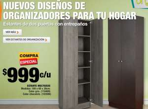 HOME DEPOT: ESTANTE MULTIUSOS CHOCOLATE 180X60X30 CM