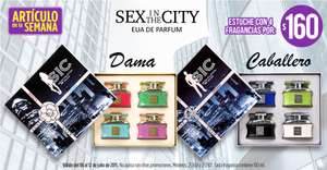 Suburbia: set de 4 perfumes Sex in the City de 100ml por $160