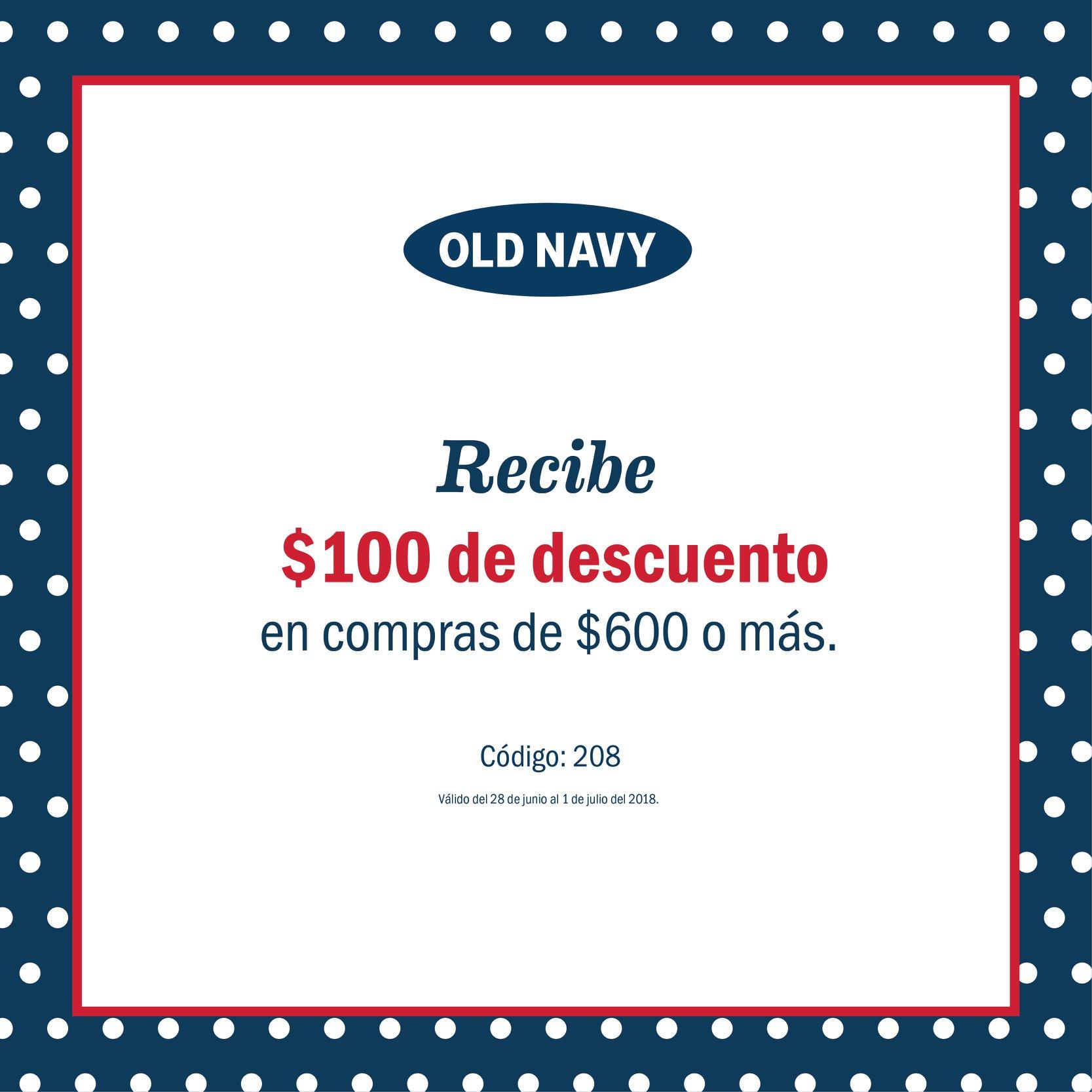 Old Navy: $100 de descuento en compras de $600