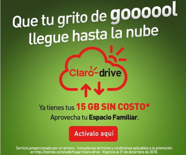 Claro Drive: 15GB Sin Costo