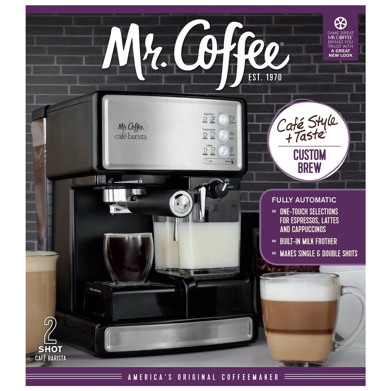 Amazon: Mr. Coffee Cafetera eléctrica para espresso con espumador de leche automático $2,535