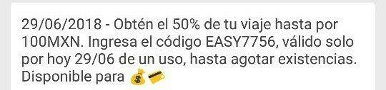 Easy Taxi: 50% descuento