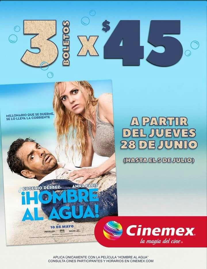 Cinemex Veracruz: 3 entradas por $45
