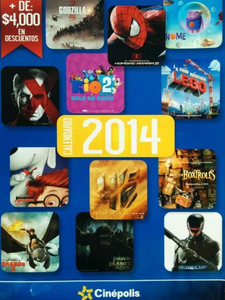 Calendario Cinépolis 2014: promociones y cupones completos