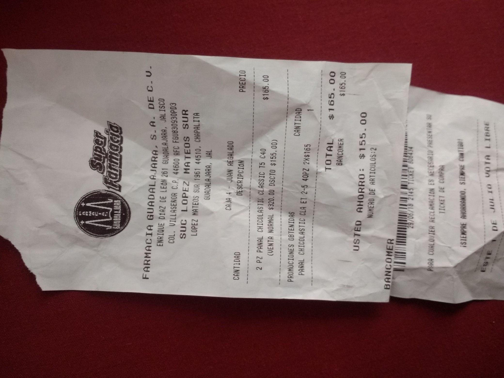 Farmacias Guadalajara: Pañales Chicolastic 40 pzas etapa 2-5 2x$165