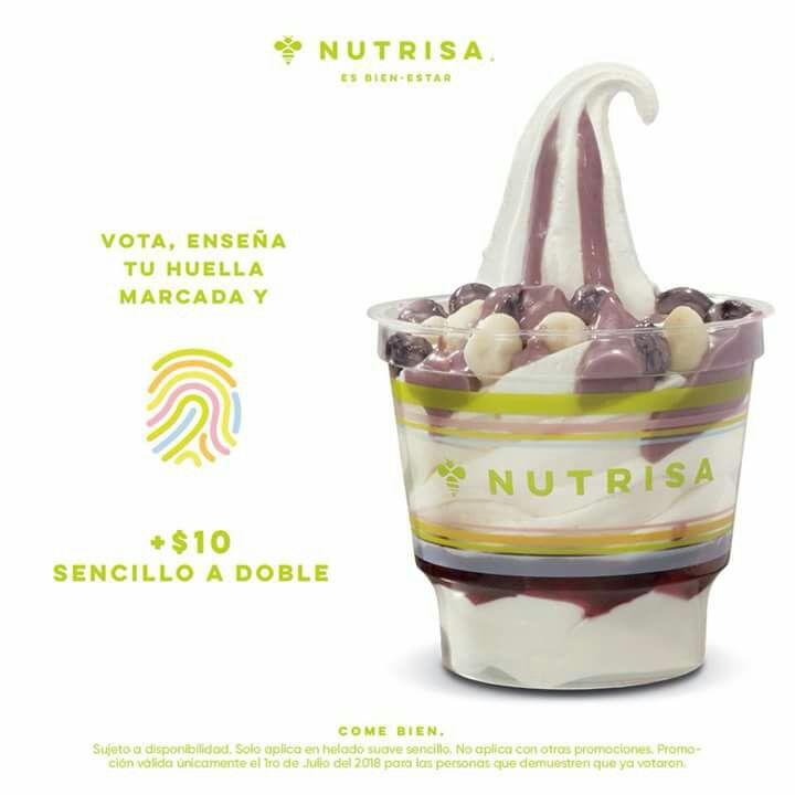Nutrisa: Vota + $10 (convierte tu helado a doble)