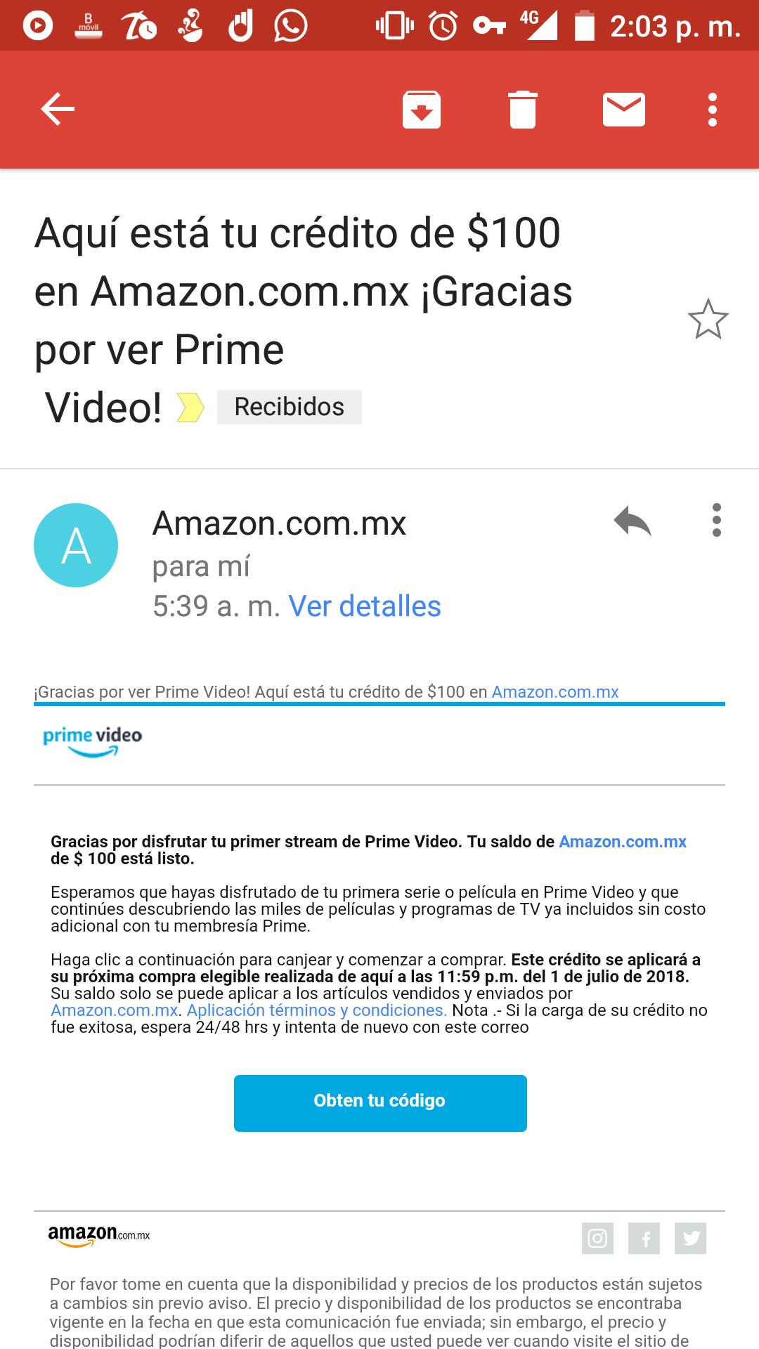 Amazon: $100 de descuento al ver tu primera serie o película en Prime Video (Usuarios seleccionados)