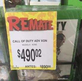 Bodega Aurrerá: Call of Duty Advanced Warfare $490.02
