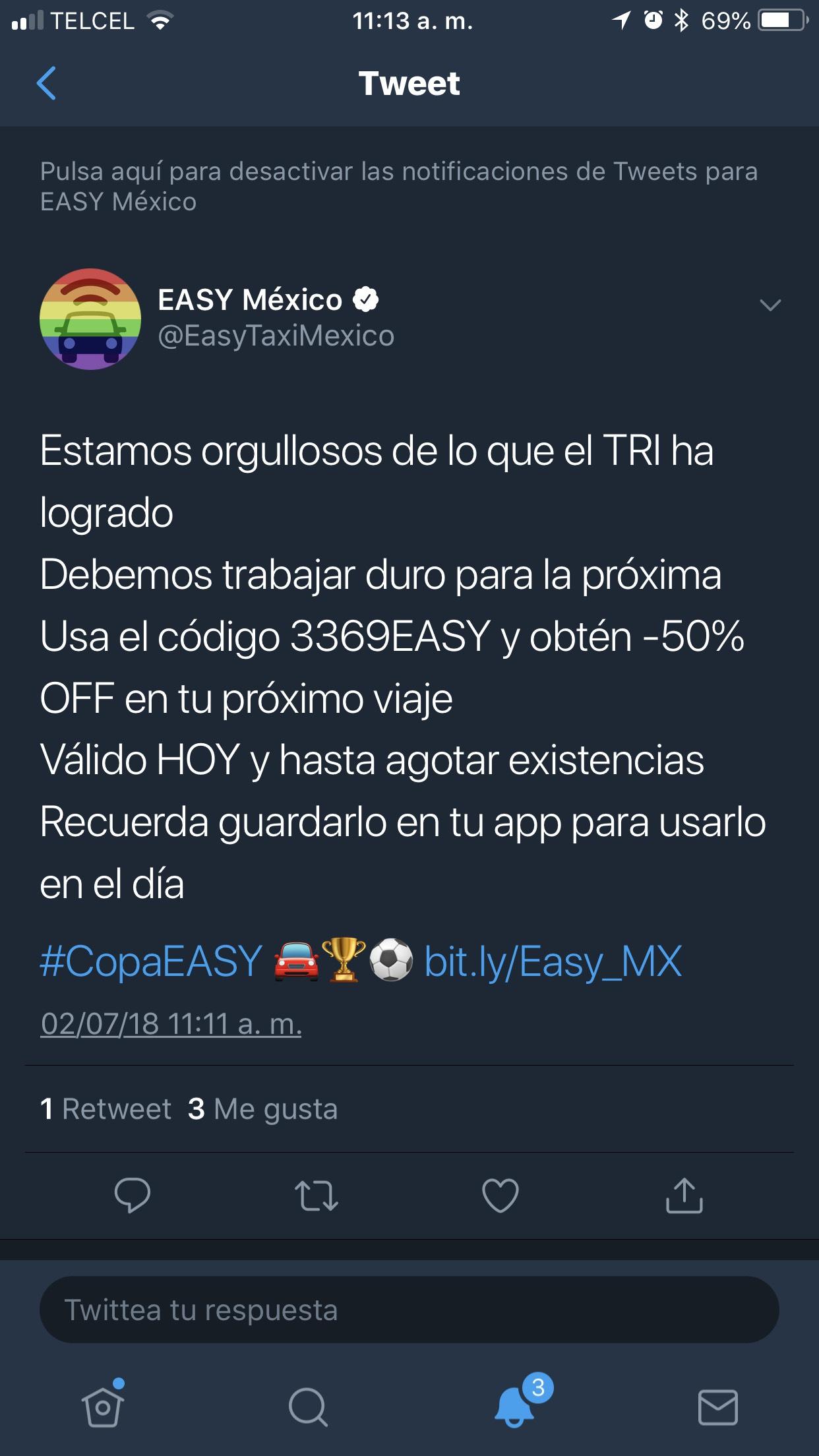Easy Taxi: Cupón 50%