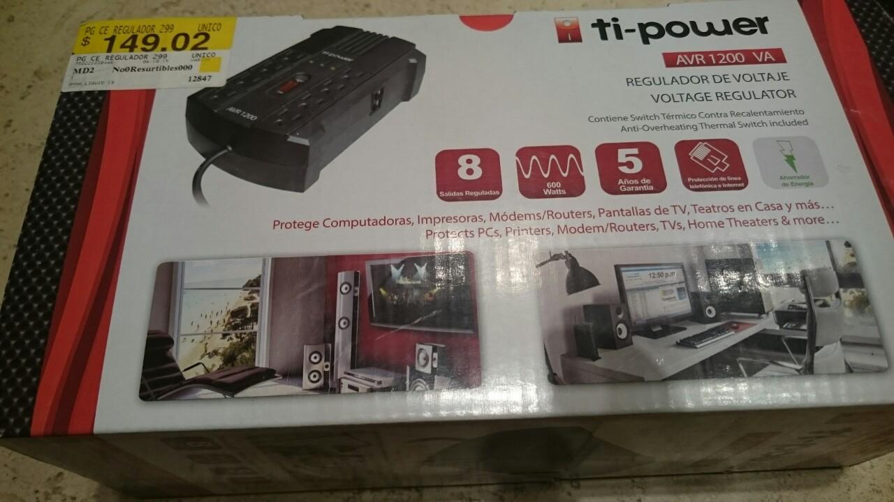 Walmart: Regulador Ti-power $149.02