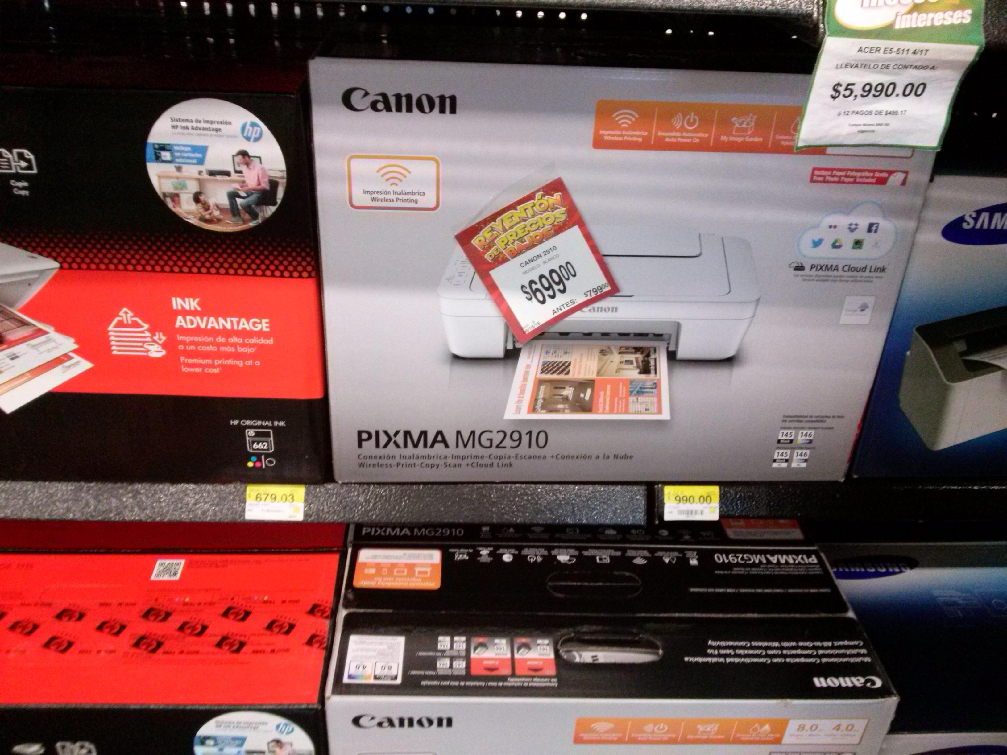 Bodega Aurrerá: multifuncional Canon MG2910 a $699