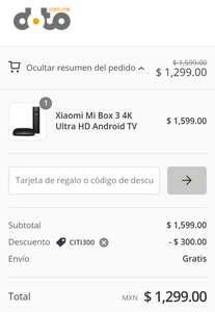 Doto: Cupón de $300 y $1000 con CitiBanamex