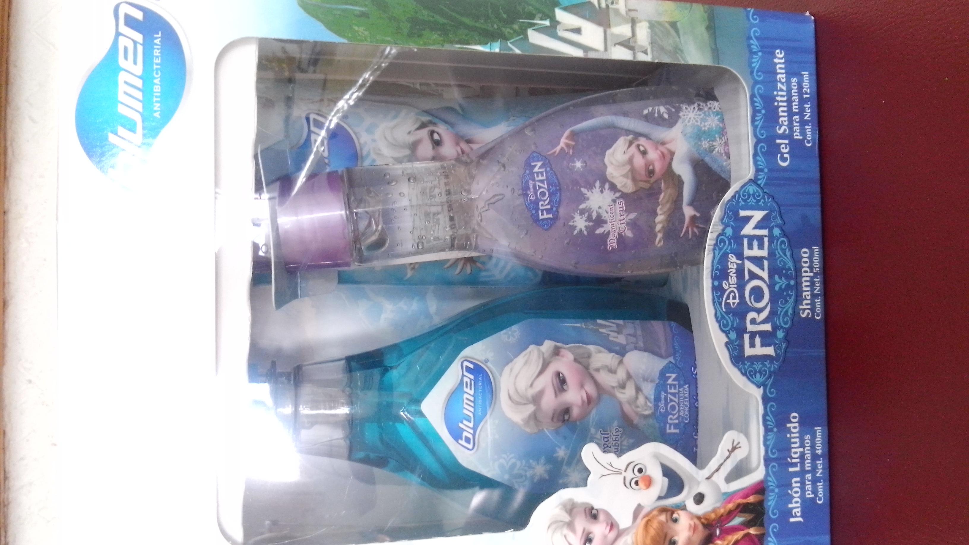 Walmart: Paquete de Frozen (shampoo, jabón liquido de manos y un gel antibacterial) a $24.03