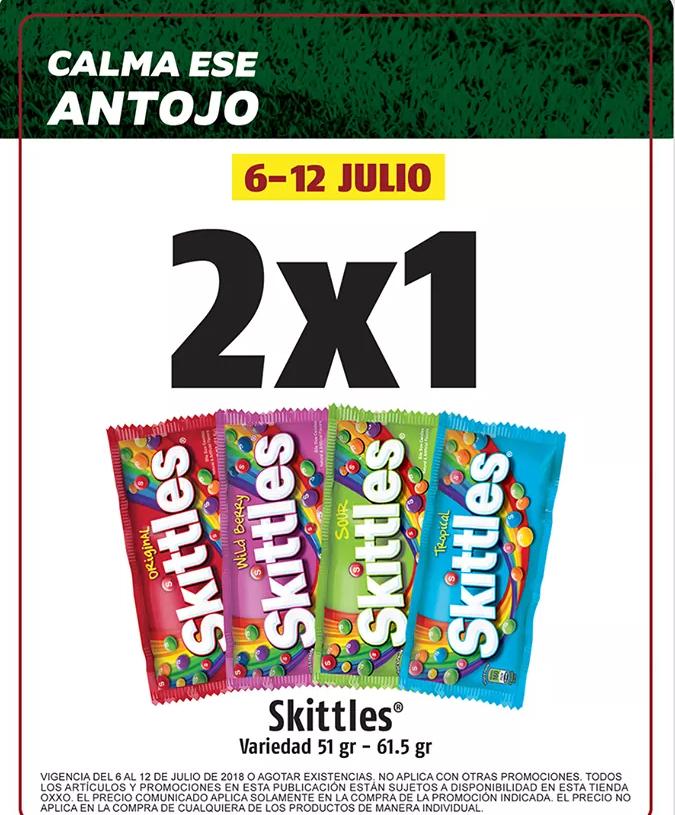 OXXO 2x1 en Skittles