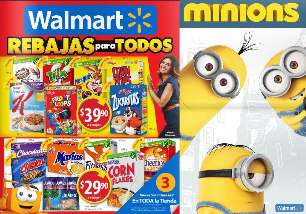 Catálogo de ofertas en walmart del 9 al 29 de julio y especial de los Minions