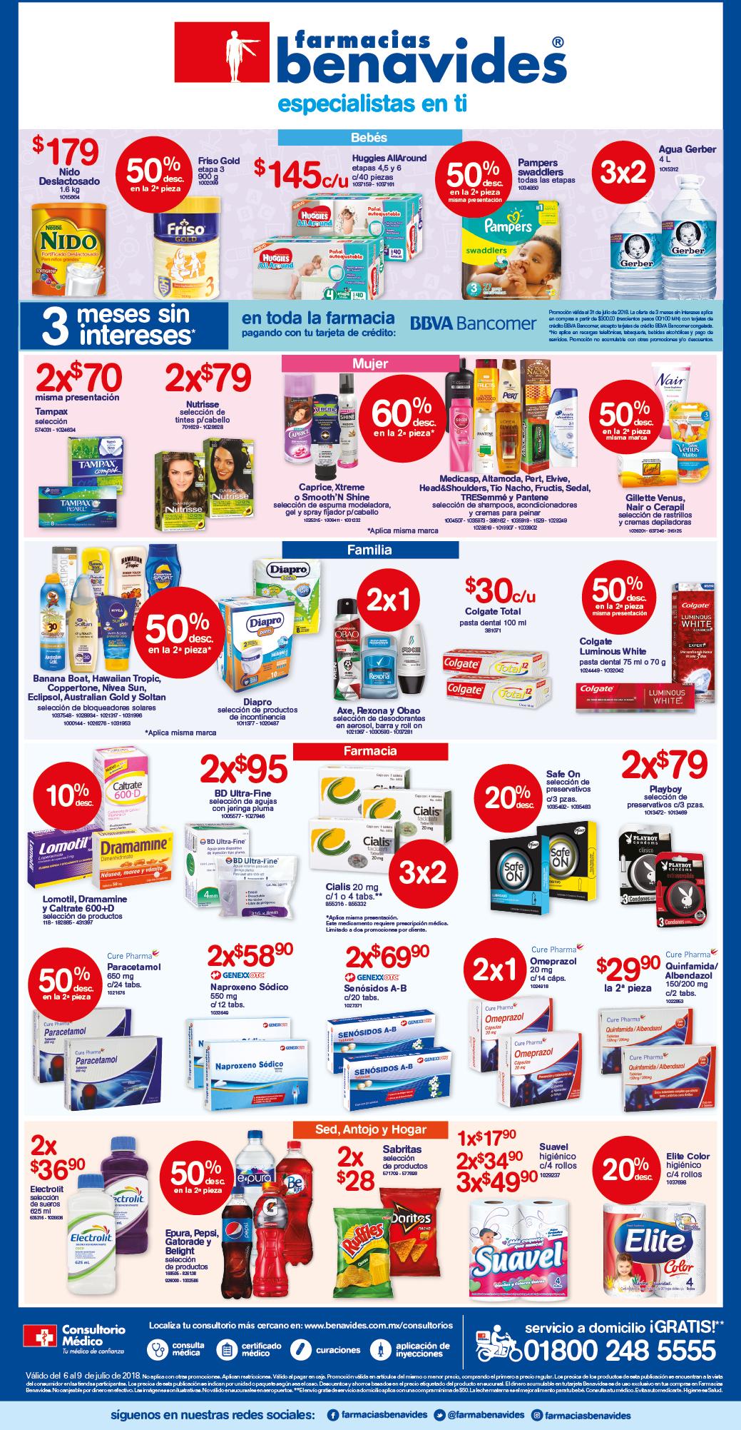 Farmacias Benavides: Ofertas del Viernes 6 al Lunes 9 de Julio