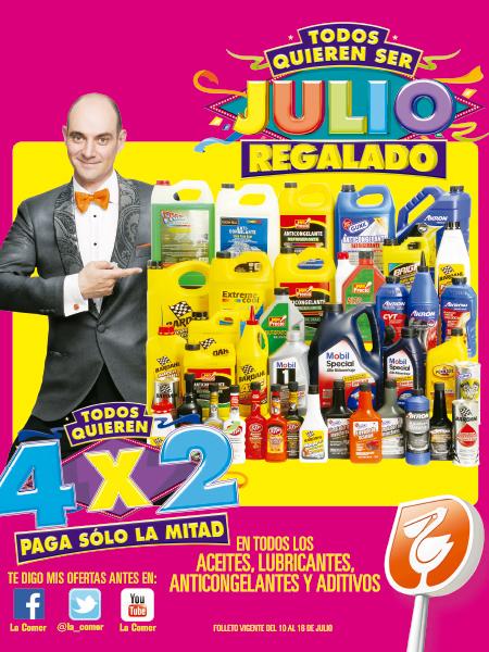 Folleto de ofertas de Julio Regalado del 10 al 16 de julio en La Comer