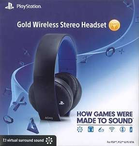 Amazon:  PlayStation Gold Wireless Stereo Headset $1,309 envio gratis